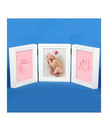Passion Petals Baby Handprint Kit With Wooden Frame - Pink White