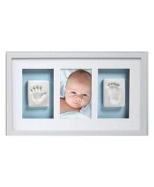 Passion Petals Baby Hand & Foot Print Kit With Wooden Frame - White