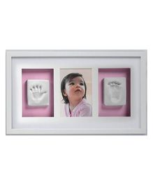 Passion Petals Baby Hand Print Kit With Wooden Frame - White