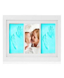 Passion Petals Baby Handprint Kit With Wooden Frame - Blue
