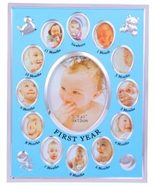 Passion Petals First Year Baby Frame - Blue