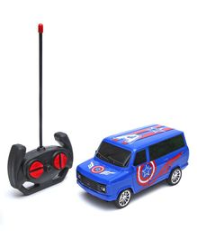 Wembley Captain America Remote Control High Speed Racing Car - Blue