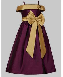A.T.U.N Off Shoulder Gown - Dark Violet
