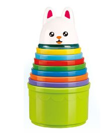Emob Animal Stacker Cups Multi Color - 10 pieces