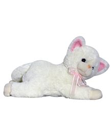 Soft Buddies Lying Cat Bolster - Off White