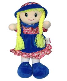 Soft Buddies Veronica Doll With Cap Blue - 30.48 cm