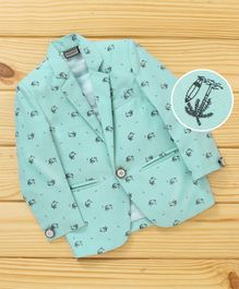 Rikidoos Beach Theme Blazer - Teal