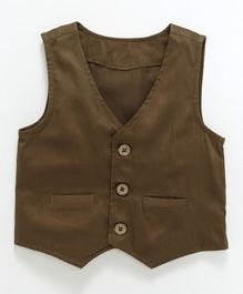 Rikidoos Solid Waist Coat - Brown