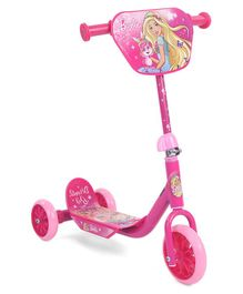 Barbie Faster Three Wheel Scooter - Pink