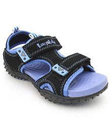Footfun Floater Sandals With Velcro Closure - Blue