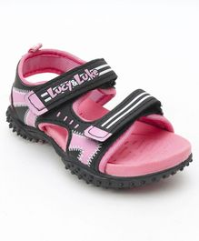 Footfun Floater Sandals With Velcro Closure - Pink