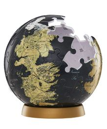 4D Cityscape Game of Thrones 3D Globe Puzzle - 60 Pieces
