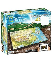 National Geographic 4 D Cityscape Ancient China Puzzle Pack of 663 Pieces - Multicolour