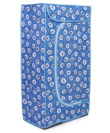 Storage Unit With 3 Shelves Fish Print - Blue