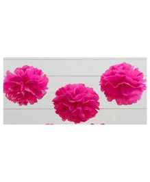 Balloon Junction Tissue Paper Pom Poms Pink - Pack of 3 Pieces