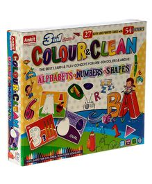 Ankit Toys 3 in 1 Colour & Clean Game - 54 Cards