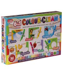 Ankit Toys 6 in 1 Colour & Clean Game - 54 Cards