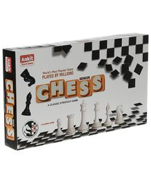 Ankit's Classic Chess Board Game - Black & White
