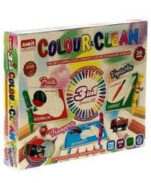 Ankit Toys 3 in 1 Colour & Clean Game - 36 Cards