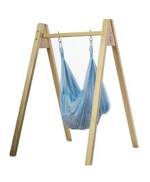 CuddlyCoo Hammock With Stand - Blue
