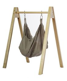 CuddlyCoo Organic Cotton Hammock With Stand - Grey