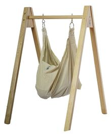 CuddlyCoo Organic Cotton Hammock With Stand - Beige