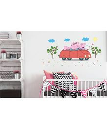 Asian Paints Wall Ons Peppa Pig Road Trip Removable Wall Sticker - XL