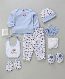 Mee Mee Clothing Gift Set Aeroplane Design Pack of 9 - Blue & White