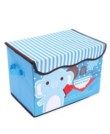 Foldable Storage Box Elephant Embroidery (Design May Vary)