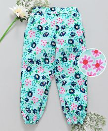 Babyhug Full Length Floral Lounge Pant - Green