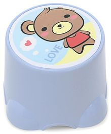 Baby Stool Love Print - Blue