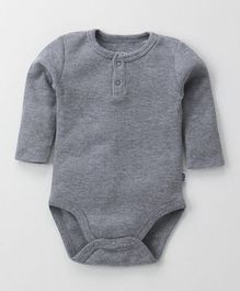 Fox Baby Full Sleeves Solid Colour Onesie - Grey