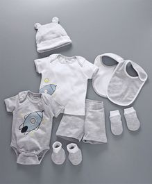 My Milestones Infant Essentials Gift Set Grey - 8 Pieces