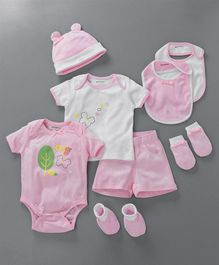 My Milestones Infant Essentials Gift Set Pink - 8 Pieces