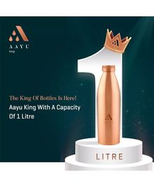 Aayu Go Pure Copper Seamless Bottle - 1000 ml