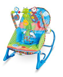 Infant to Toddler Baby Musical Rocker - Blue