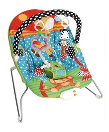 Baby Musical Bouncer Animal Design - Red & Blue