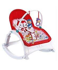 Baby Musical Rocker With Hanging Toys - Red & Multi Colour