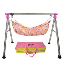 Multipro Indian Style Ghodiyu Baby Cradle - Pink