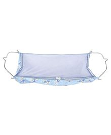 Multipro Soft Cloth Hammock With Metal Hangers - Blue