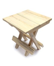 IVEI Wooden Portable Folding Table Small - Off White