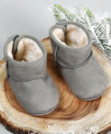 Fox Baby Solid Colour Booties - Grey