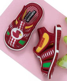 Cute Walk by Babyhug Sandals Duck Patch - Red