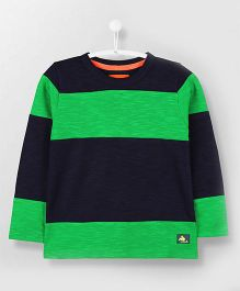 Cherry Crumble California Crew Neck T-Shirt - Green & Black