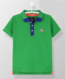 Cherry Crumble California Half Sleeves Polo Neck T-Shirt - Green