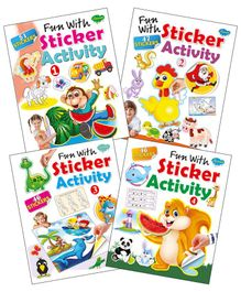 Set of 4 Book Fun With Sticker Activity - English