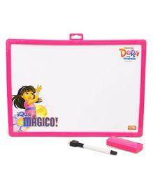 Dora & Friends 2 In 1 Writing Board & Slate - Pink