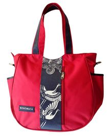 Bohomia Katagami Edition Diaper Bag Bird Print - Red