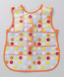 Alpaks Apron With Polka Dot Bird Print - Orange