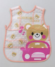 Alpaks Apron With Teddy Bear Print - Peach